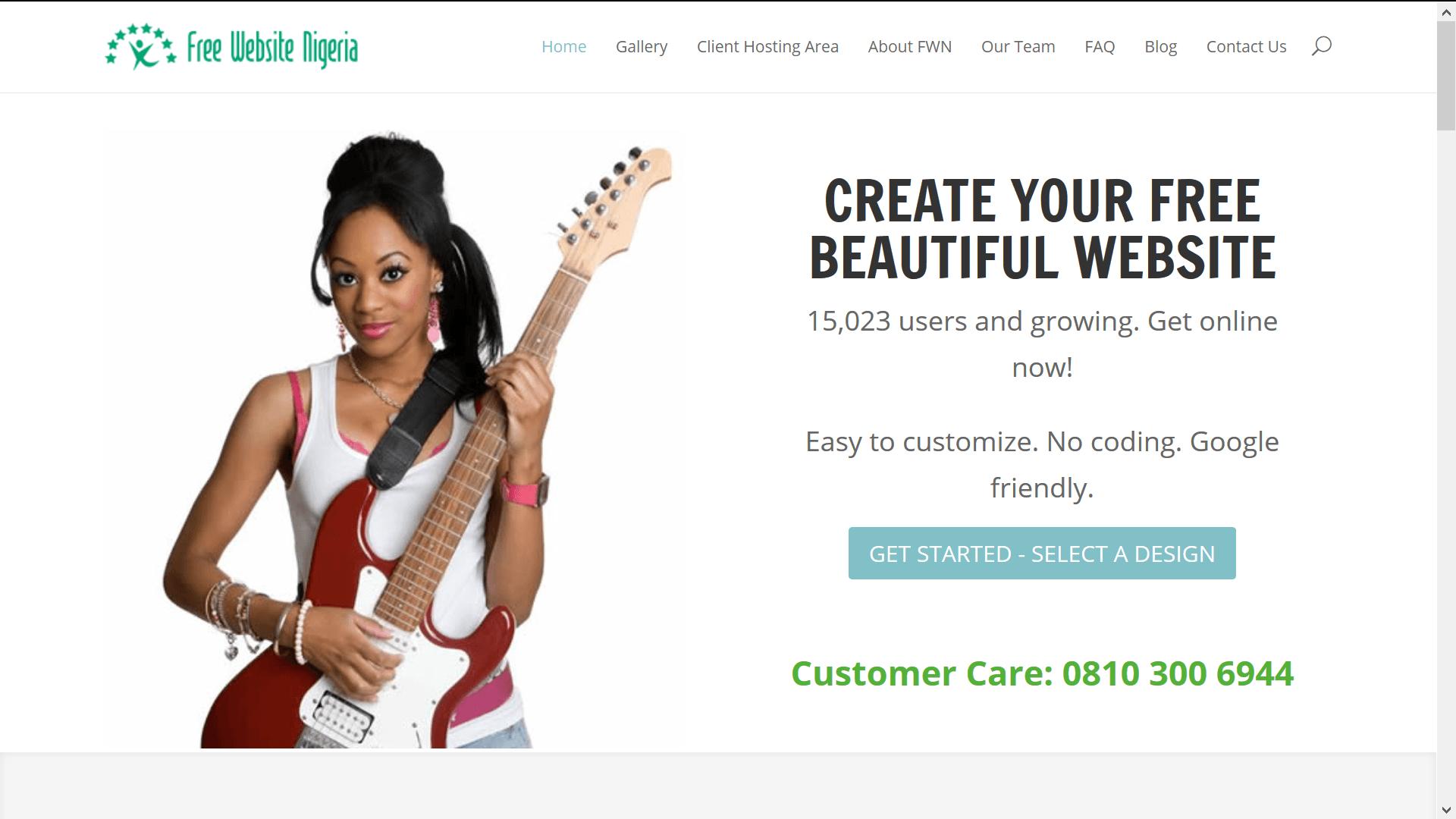 Free Website Nigeria